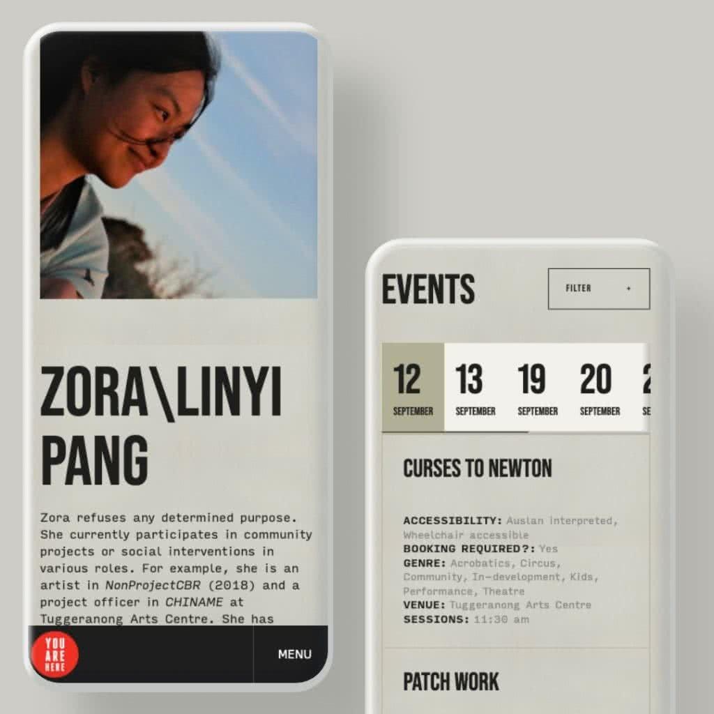 YAH 2020 mobile mockups